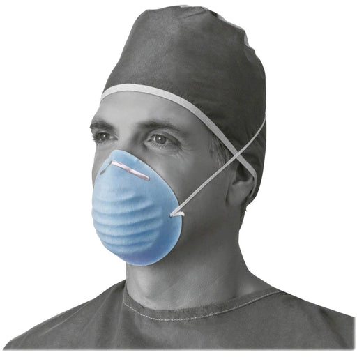 MedlineMedline Standard Procedure Face Mask, Cellulose, Blue, 50/Box