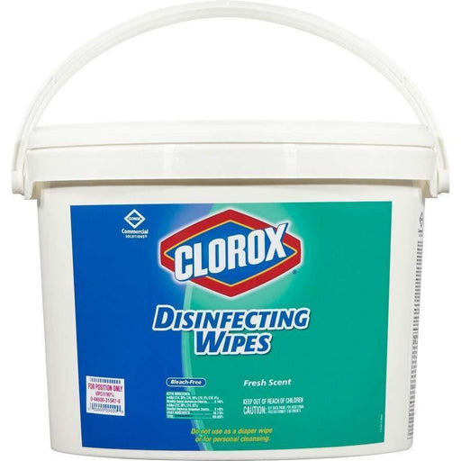 Clorox Clorox Disinfecting Wipes, 7 x 8, Fresh Scent, 700/Bucket - Janitorial Superstore