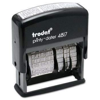 Janitorial SuperstoreTrodat® Trodat Economy 12-Message Stamp, Dater, Self-Inking, 2 x 3/8, Black
