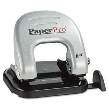 Janitorial SuperstorePaperPro® 20-Sheet Capacity ProPunch Two-Hole Punch, Black/Silver