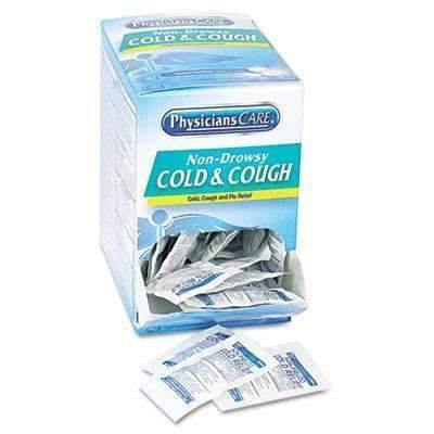 PhysiciansCare® Cold and Cough Congestion Medication, Two-Pack, 50 Packs/Box (11806672012)