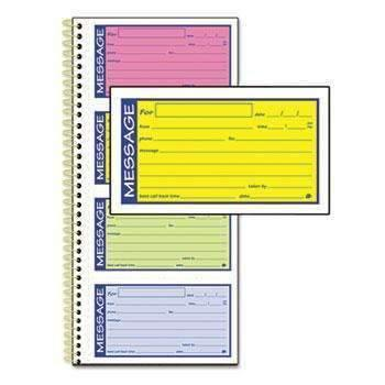 Janitorial Superstore Adams® Wirebound Telephone Message Book, Two-Part Carbonless, 200 Forms - Janitorial Superstore