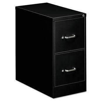 OIF OIF Two-Drawer Economy Vertical File, 15w x 26-1/2d x 29h, Black - Janitorial Superstore