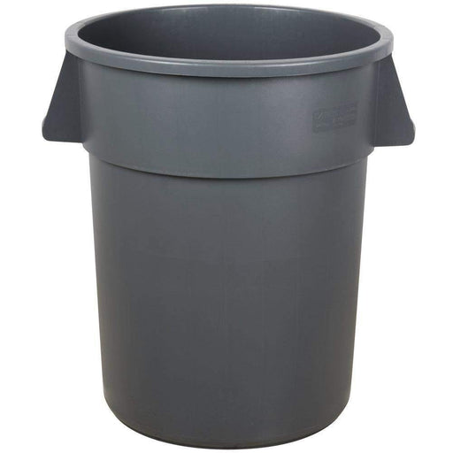 Janitorial Superstore Carlisle 34105523 Bronco 55 Gallon Gray Trash Can - Janitorial Superstore