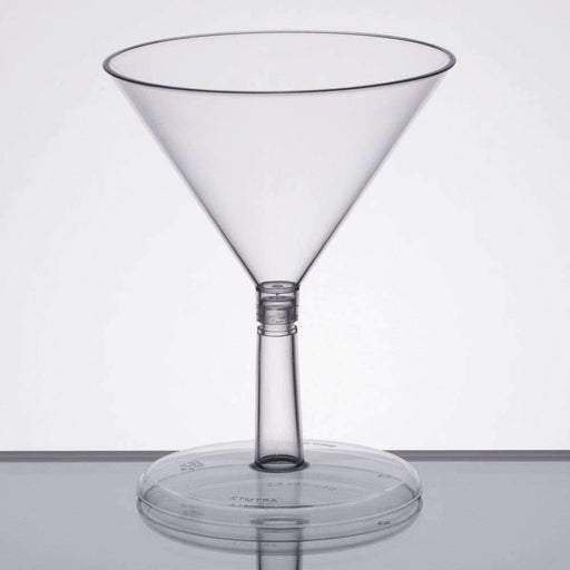 Janitorial Superstore Petites® Clear 2 Piece Mini Martini Glass - 2 oz 240 Glasses / Case - Janitorial Superstore