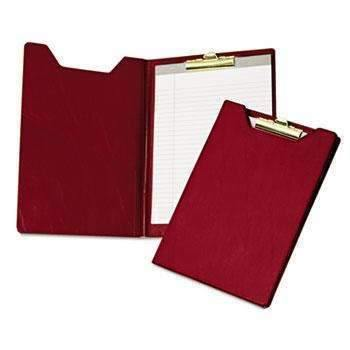 Janitorial Superstore Samsill® Value Padfolio, Heavy Vinyl, Brass Clip, Writing Pad, Inside Pocket, Burgundy - Janitorial Superstore
