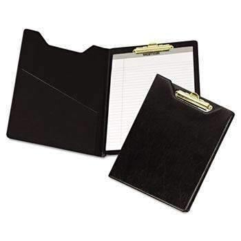 Janitorial SuperstoreSamsill® Value Padfolio, Heavyweight Sealed Vinyl, Brass Clip, Inside Front Pocket, Black