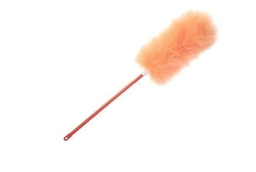 "Lambskin SpecialtiesDuster Fresh Scented, Orange Orchard Aroma, Orange Wool and Handle. 12"" Dusting Pom, 26"" Overall"