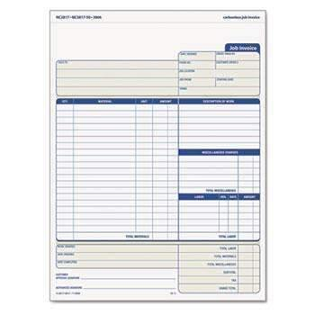 Janitorial Superstore TOPS™ Snap-Off Job Invoice Form, 8 1/2 x 11 5/8, Three-Part Carbonless, 50 Forms - Janitorial Superstore