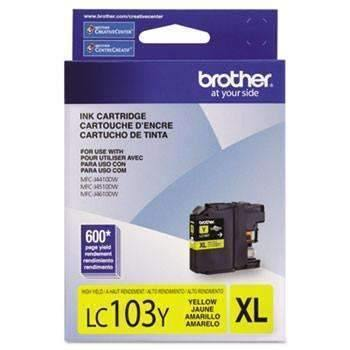 Janitorial SuperstoreBrother LC103Y Innobella High-Yield Ink, Yellow
