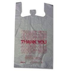 "Janitorial Superstore Thank You High-Density Shopping Bags, 18"" x 30"", White, 500/Carton - Janitorial Superstore"