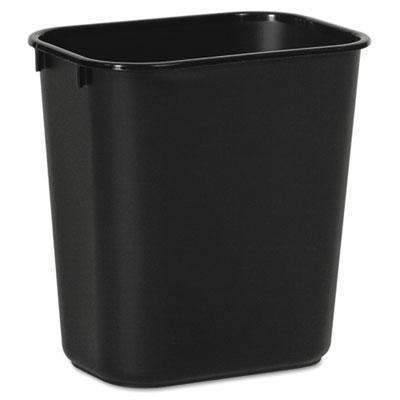 Janitorial Superstore Soft-Sided Wastebasket, 14qt, Plastic, Black - Janitorial Superstore