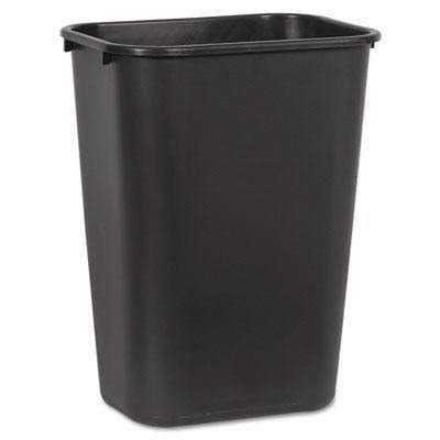 Janitorial Superstore Soft-Sided Wastebasket, 41 qt, Plastic, Black - Janitorial Superstore