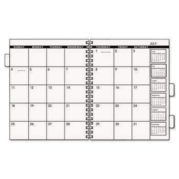 Janitorial Superstore AT-A-GLANCE® Three/Five-Year Monthly Planner Refill, 9 x 11, White, 2018 - Janitorial Superstore