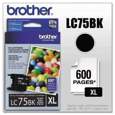 Janitorial SuperstoreBrother LC75BK Innobella High-Yield Ink, Black