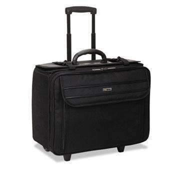 Janitorial SuperstoreSolo Classic Rolling Catalog Case, 17.3, 17 1/2 x 8 x 14, Black