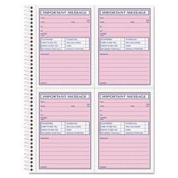 Janitorial Superstore TOPS™ Telephone Message Book, Fax/Mobile Section, 5 1/2 x 3 3/16, Two-Part, 200/Book - Janitorial Superstore