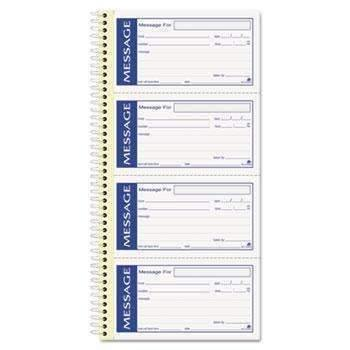Janitorial Superstore Adams® Write 'n Stick Phone Message Pad, 2 3/4 x 4 3/4, Two-Part Carbonless, 200 Forms - Janitorial Superstore