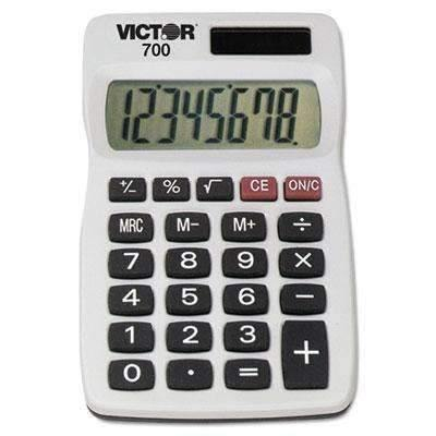 Janitorial SuperstoreVICTOR TECHNOLOGIES 700 Pocket Calculator, 8-Digit LCD