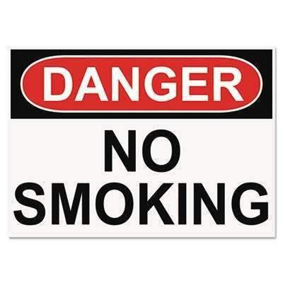Janitorial SuperstoreHeadline® Sign OSHA Safety Signs, DANGER NO SMOKING, White/Red/Black, 10 x 14