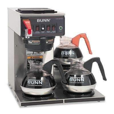 Janitorial SuperstoreBUNN-O-MATIC CWTF-3 Three Burner Automatic Coffee Brewer, Stainless Steel, Black