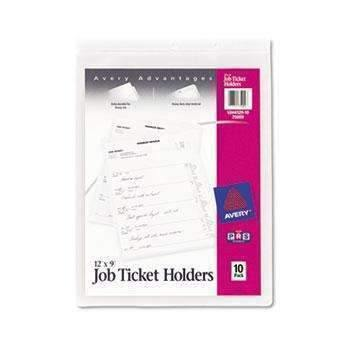Janitorial SuperstoreAvery® Job Ticket Holders, Heavy Gauge Vinyl, 9 x 12, Clear, 10/Pack