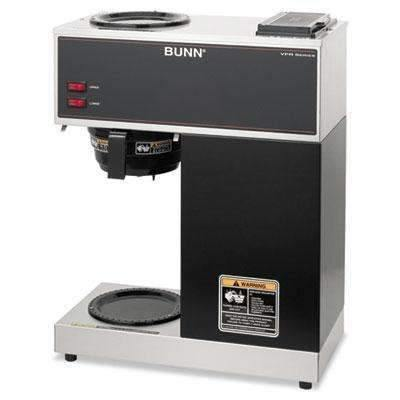 Janitorial SuperstoreBUNN-O-MATIC VPR Two Burner Pourover Coffee Brewer, Stainless Steel, Black