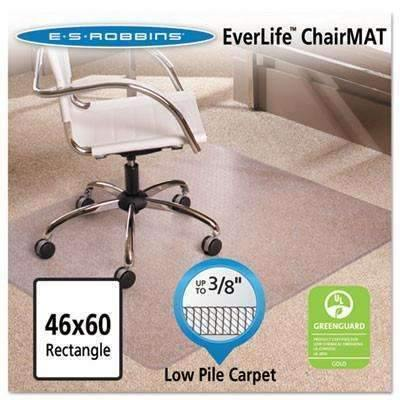 Janitorial SuperstoreES Robbins 46x60 Rectangle Chair Mat-Task AnchorBar Carpet Chair Mat