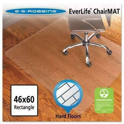 Janitorial SuperstoreE.s. Robbins 46x60 Rectangle Chair Mat, Economy Series for Hard Floors