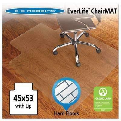 Janitorial SuperstoreES Robbins 45x53 Lip Chair Mat, Economy Series for Hard Floors Chair Mat