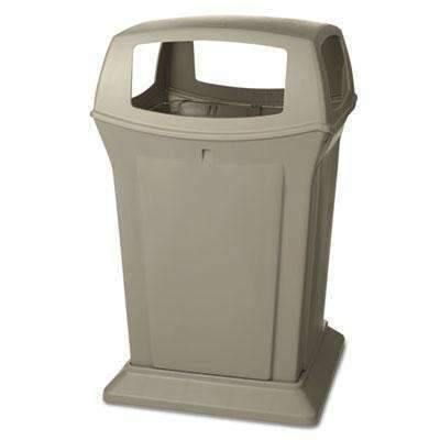 Janitorial SuperstoreRUBBERMAID COMMERCIAL PROD. Ranger Fire-Safe Container, Square, Structural Foam, 45 gal, Beige