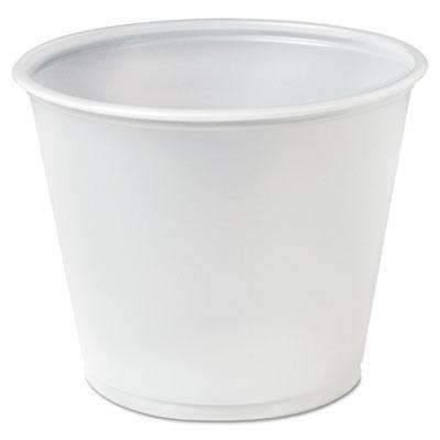 Janitorial SuperstoreTranslucent Polystyrene Soufflé Cup - 5.5 oz 2500cs