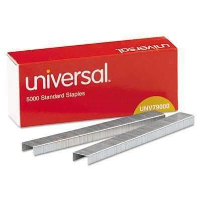Janitorial SuperstoreUniversal Office Products Standard Chisel Point 210 Strip Count Staples, 5,000/Box, 5 Boxes per Pack