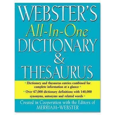 Janitorial Superstore ADVANTUS CORPORATION All-In-One Dictionary/Thesaurus, Hardcover, 768 Pages - Janitorial Superstore