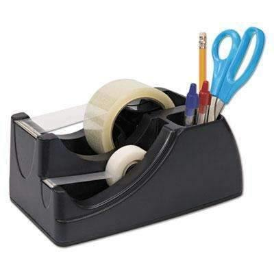"Janitorial Superstore Recycled 2-in-1 Heavy Duty Tape Dispenser, 1"" and 3"" Cores, Black - Janitorial Superstore"