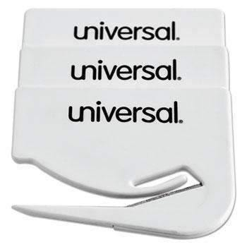 Janitorial SuperstoreUniversal® Letter Slitter Hand Letter Opener w/Concealed Blade, 2 1/2, White, 3/Pack