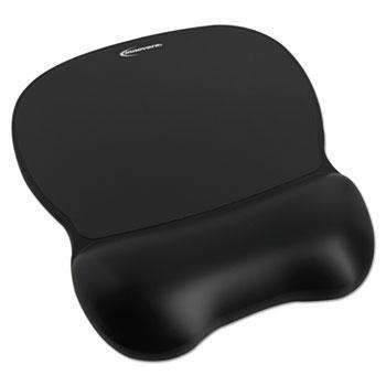 Janitorial SuperstoreInnovera® Gel Mouse Pad w/Wrist Rest, Nonskid Base, 8-1/4 x 9-5/8, Black