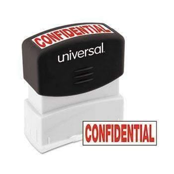 Janitorial SuperstoreUniversal® Message Stamp, CONFIDENTIAL, Pre-Inked One-Color, Red