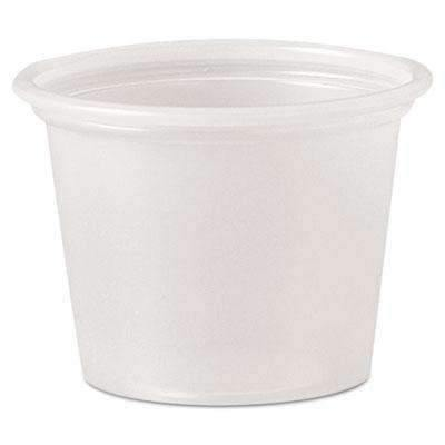 Janitorial Superstore Polystyrene Portion Cups, 1 oz, Translucent, 2500/Carton - Janitorial Superstore