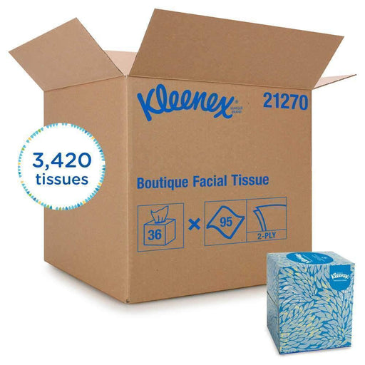 KleenexKleenex® 21270 Boutique* Facial Tissue, 36 Boxes of 95 Sheets