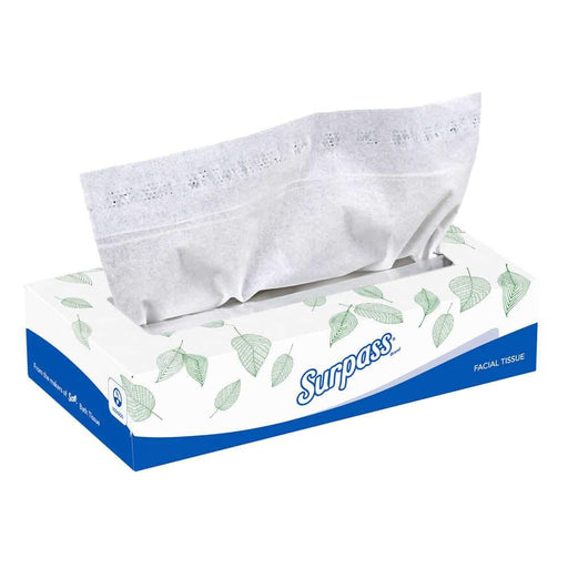 KleenexSurpass* 21340 Facial Tissue, 2-Ply White Facial Tissue, Flat Box, 30 Case of 100 Sheets