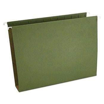 Janitorial Superstore Box Bottom 3'' Hanging File Folders, Letter Size, 1/5-Cut Tab, Standard Green, 25/Box - Janitorial Superstore
