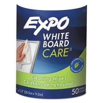 Janitorial SuperstoreEXPO® Dry-Erase Board-Cleaning Wet Wipes, 6 x 9, 50/Container
