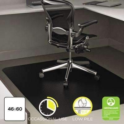 Janitorial SuperstoreDeflecto Corporation EconoMat Occasional Use Chair Mat for Low Pile, 46 x 60, Black