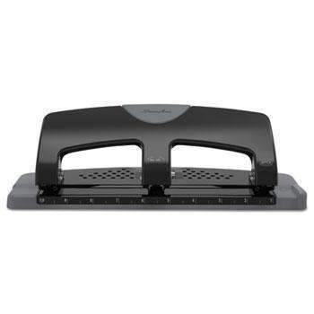 "Janitorial Superstore Swingline® 20-Sheet SmartTouch Three-Hole Punch, 9/32"" Holes, Black/Gray - Janitorial Superstore"