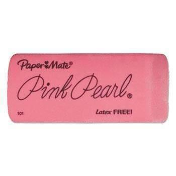 Janitorial SuperstorePaper Mate® Pink Pearl Eraser, Large, 3/Pack