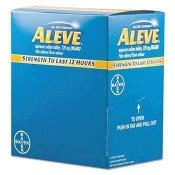 Aleve® Pain Reliever Tablets, 48 Packs/Box (11808897612)