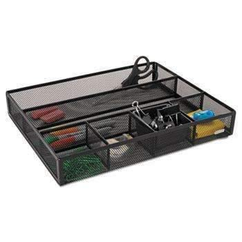 Janitorial Superstore Rolodex™ Deep Desk Drawer Organizer, Metal Mesh, Black - Janitorial Superstore