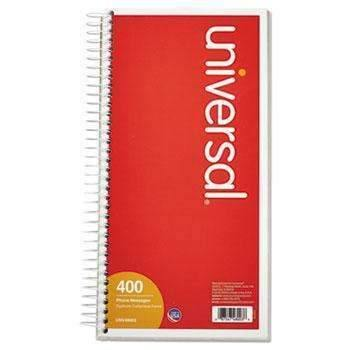 Janitorial SuperstoreUniversal® Wirebound Message Books, 5 x 3 3/8, Two-Part Carbonless, 400 Sets/Book