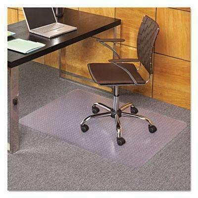 Janitorial SuperstoreEverLife Chair Mats For Medium Pile Carpet, Rectangular, 36 x 48, Clear